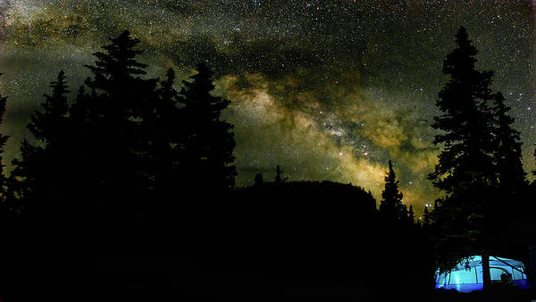 Camping Under The Milky Way 2 Poster