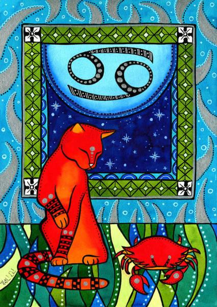 Cancer Cat Zodiac Poster