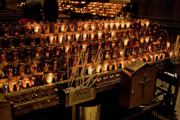 Candle Offerings St. Patrick Cathedral Poster