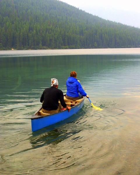 Canoeing Glacier Park Poster