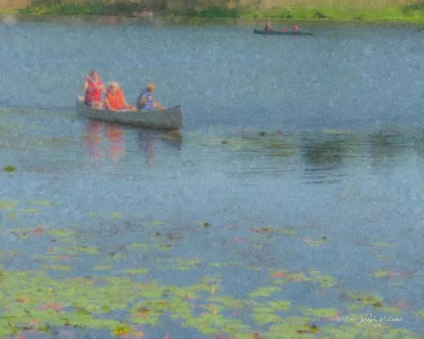 Canoes On Shovelshop Pond Poster