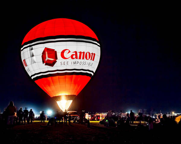 Canon - See Impossible - Hot Air Balloon Poster