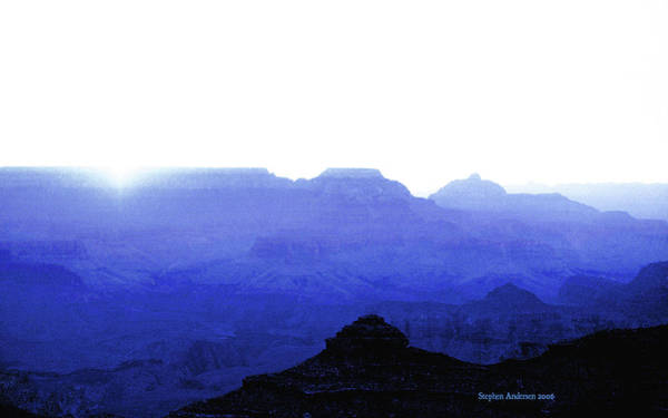 Canyon In Blue Poster