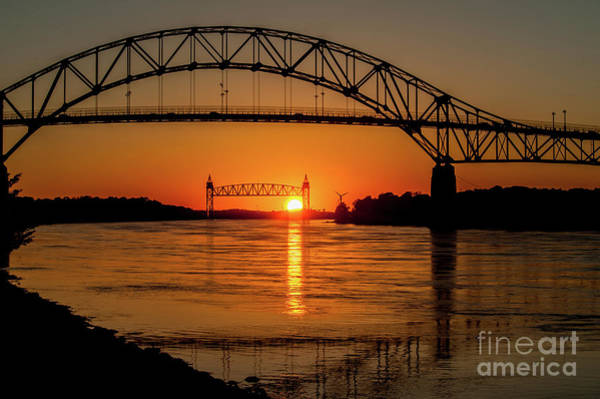 Cape Cod Canal Sunset Poster