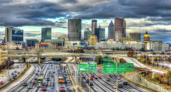 Capital Of The South Atlanta Skyline Cityscape Art Poster