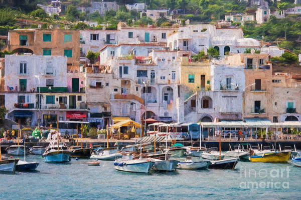 Capri Boat Harbor Poster