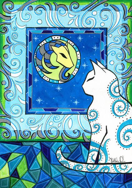 Capricorn Cat Zodiac Poster