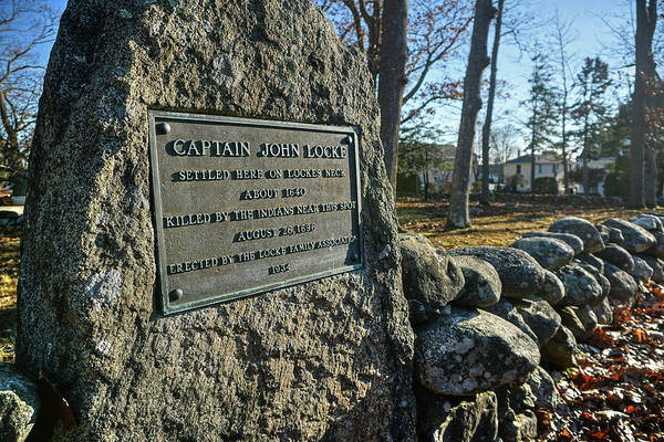 Poster featuring the photograph Captain John Locke Monument  by Wayne Marshall Chase