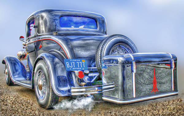 Poster featuring the photograph Car 54 Rear by Sam Davis Johnson