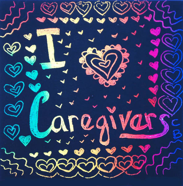 Caregiver Rainbow Poster