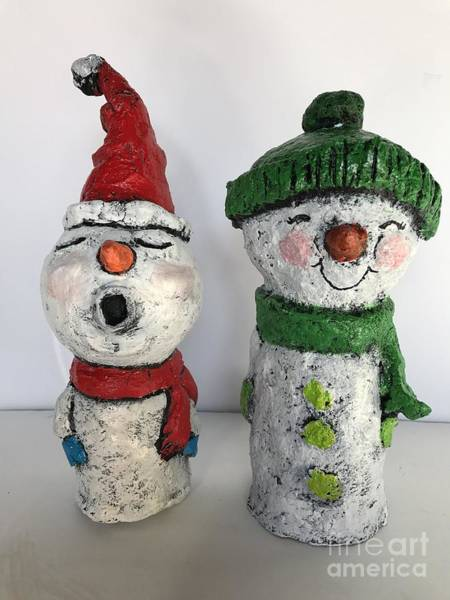 Caroling Snowmen Poster
