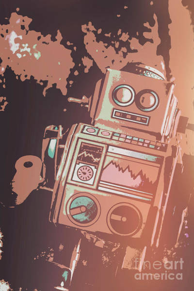 Cartoon Cyborg Robot Poster