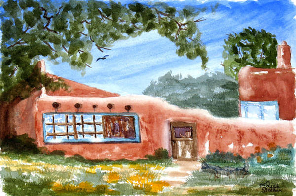 Poster featuring the painting Casa En Taos by Rich Stedman