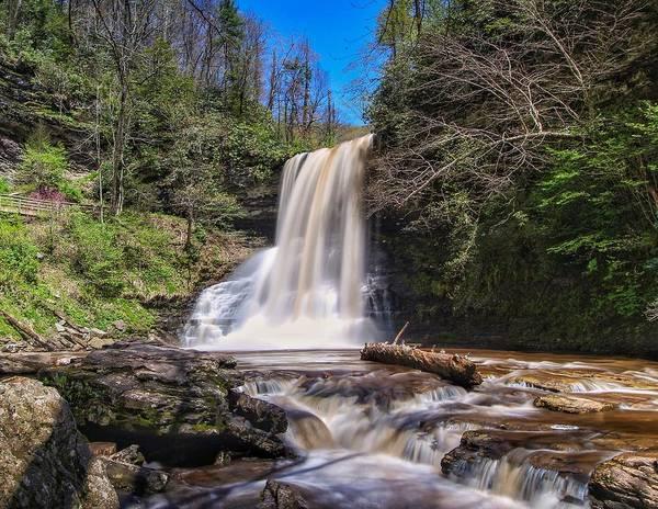 Cascade Falls In Spring Poster
