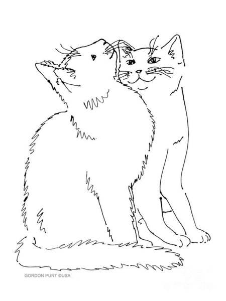 Cat-art-curious Poster
