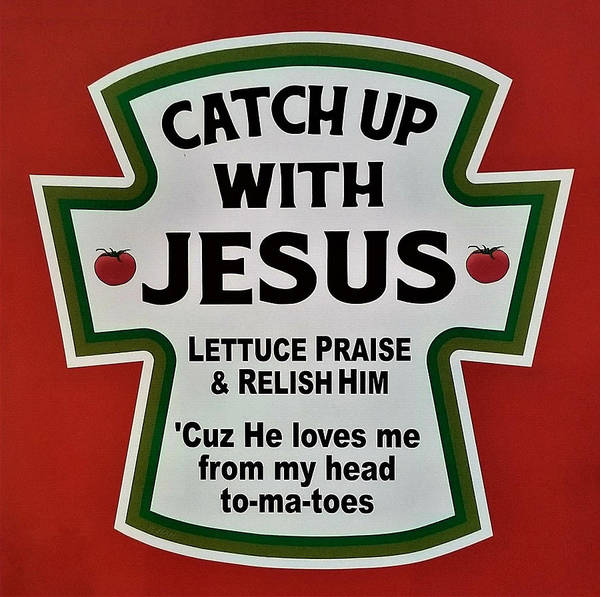 Catch Up With Jesus Poster