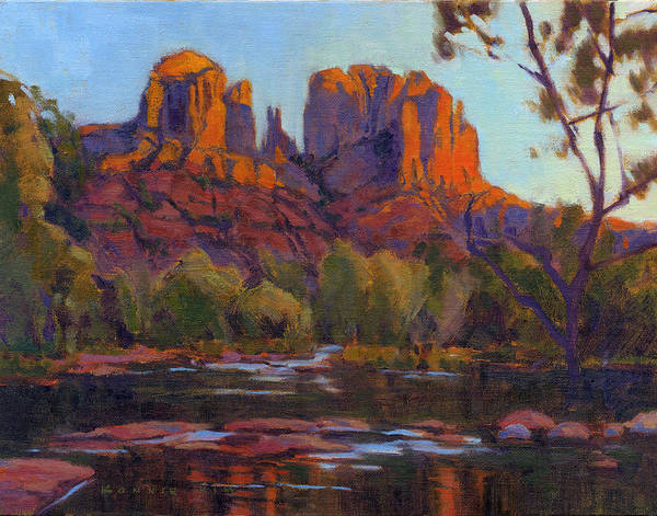 Poster featuring the painting Cathedral Rock by Konnie Kim