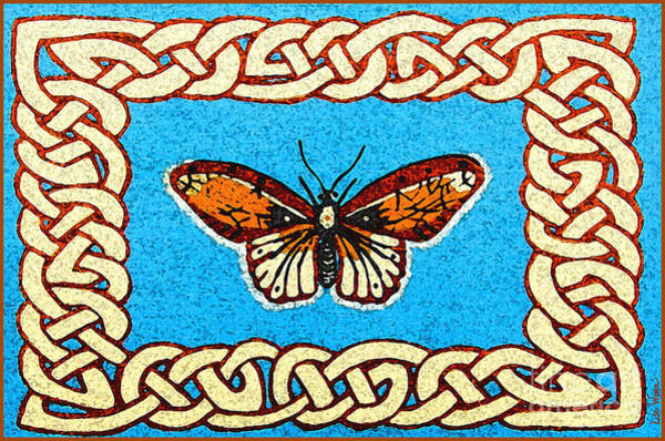 Celtic Butterfly Poster