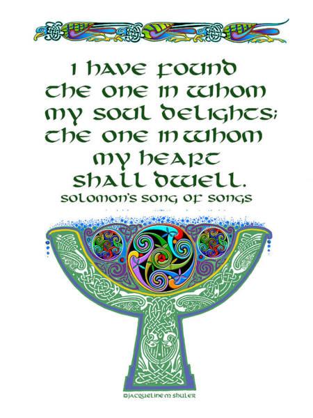 Celtic Wedding Goblet Poster