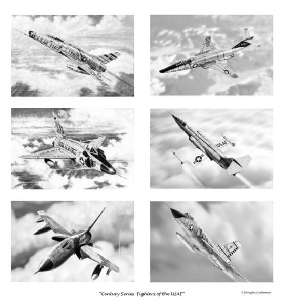 Century Series Drawings Poster