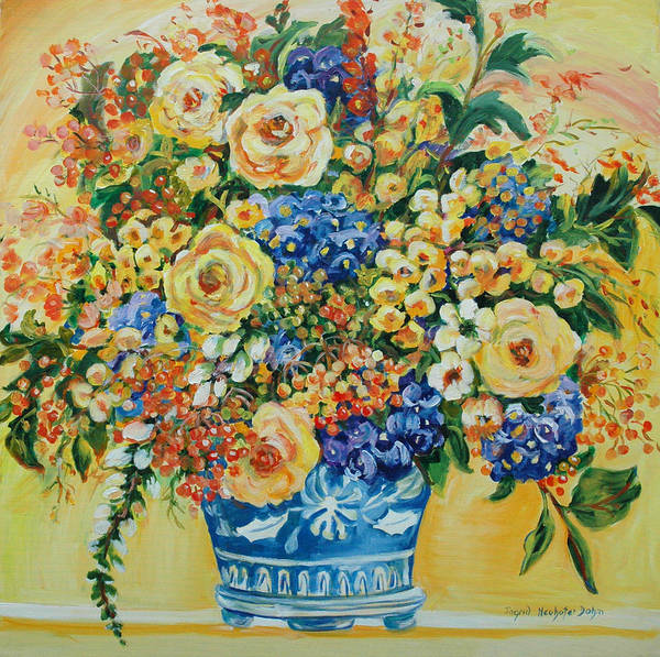 Ceramic Blue Poster
