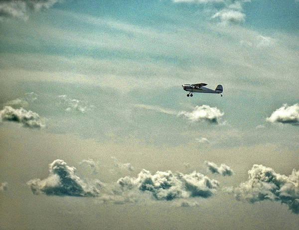 Cessna 140 Departing Delaware Coastal Airport At Georgetown Poster