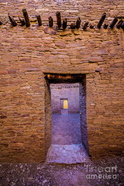 Chaco Canyon - Pueblo Bonito Doorways - New Mexico Poster