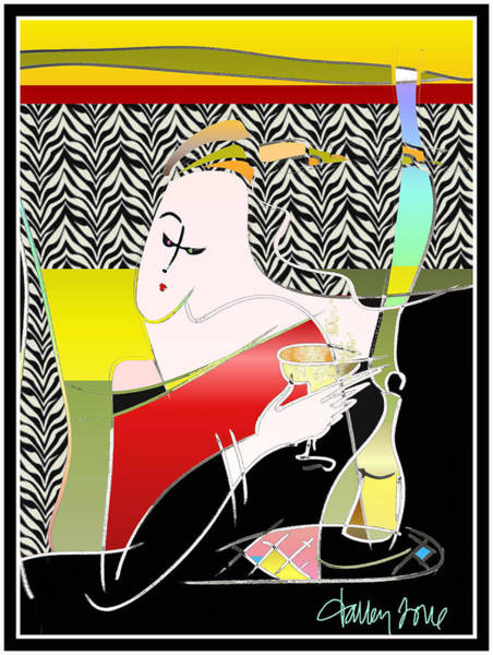 Champagne For One At The Zebra Lounge Poster