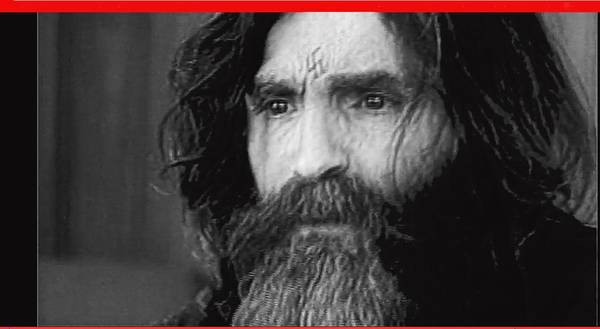 Charles Manson Screen Capture Circa 1970-2015 Poster