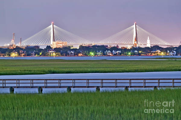Charleston South Carolina Skyline Poster