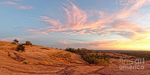 Chasing Angels Of Light Over Enchanted Rock - Fredericksburg Texas Hill Country Poster