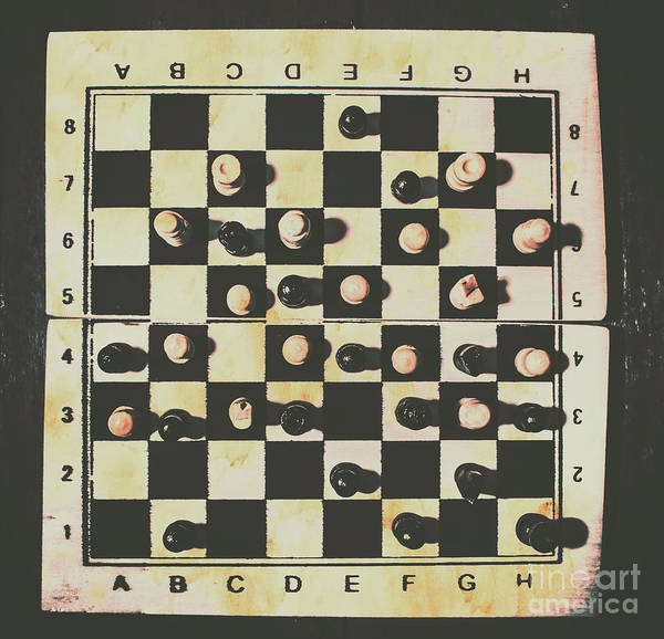 Chessboards And Playing Pieces Poster