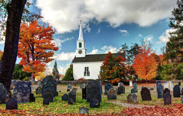 Poster featuring the photograph Chester Village Cemetery In Autumn by Wayne Marshall Chase