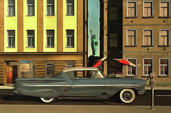 Chevrolette Impala At The Big Apple Poster
