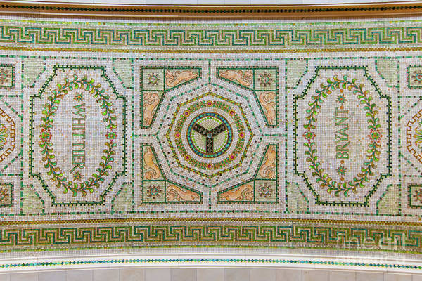 Chicago Cultural Center Ceiling With Y Symbol Poster