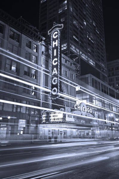 Chicago Theater Marquee B And W Poster