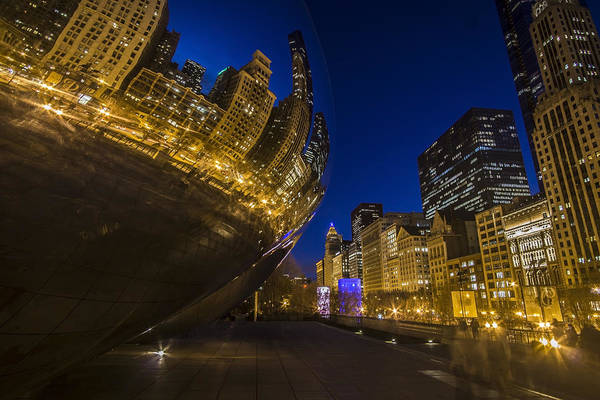 Chicago's Millenium Park At Dusk Poster