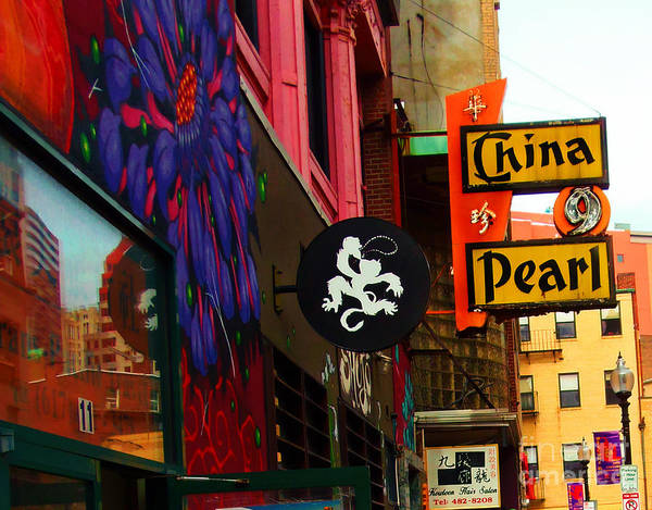 China Pearl Sign, Chinatown, Boston, Massachusetts Poster