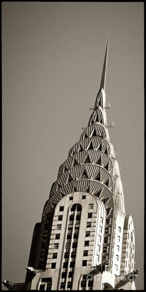 Poster featuring the photograph Chrysler Building New York City by Juergen Held