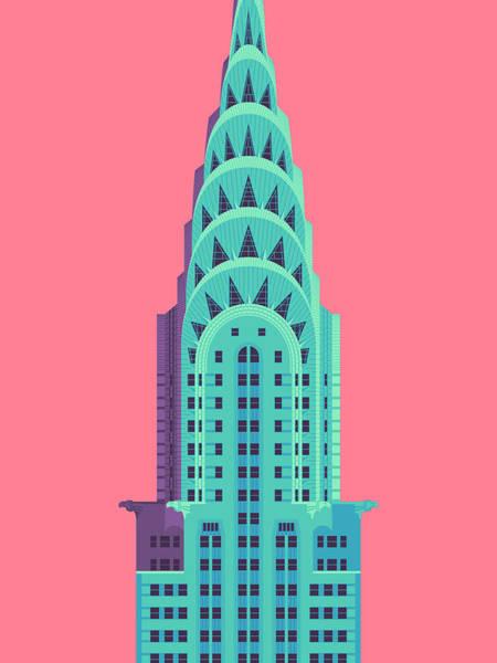 Chrysler Building - Red Poster