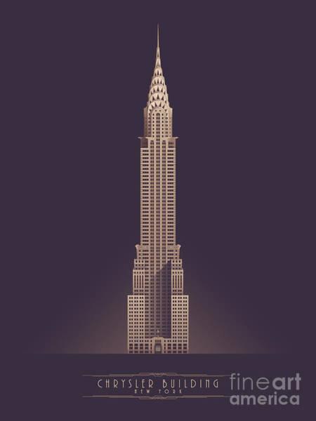 Chrysler Building - Vintage Dark Poster