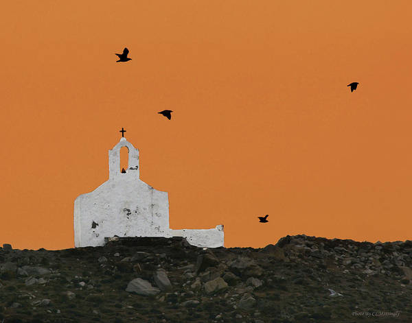 Church On A Hill Poster