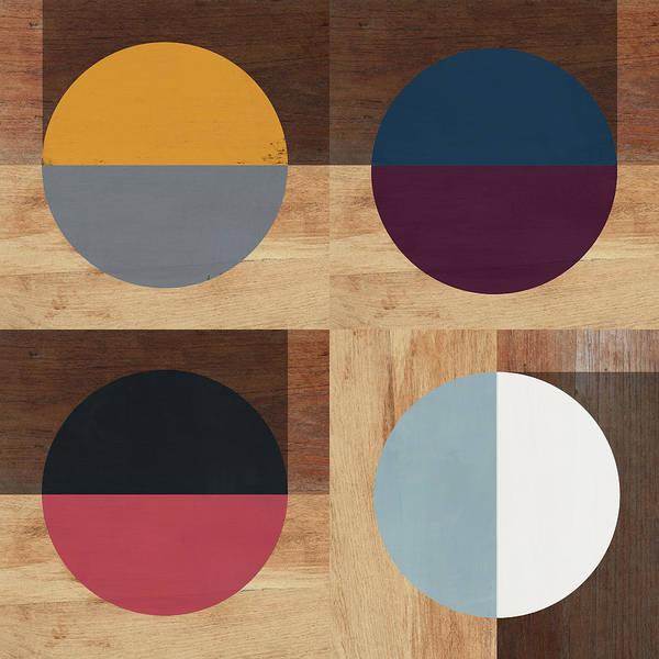 Cirkel Quad- Art By Linda Woods Poster