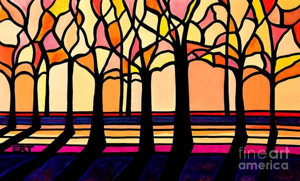 Citrus Glass Trees Poster