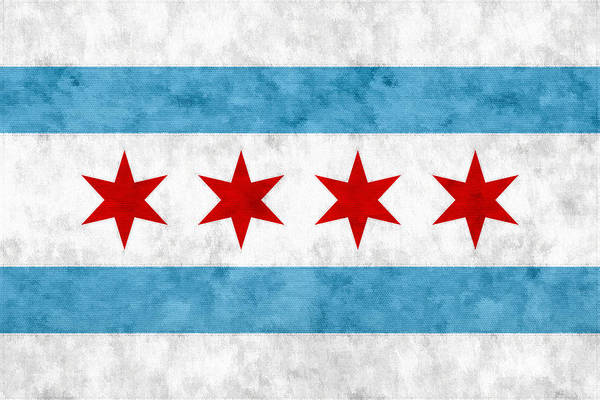 City Of Chicago Flag Poster
