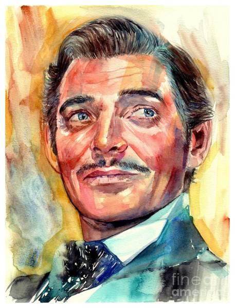 Clark Gable Portrait Poster