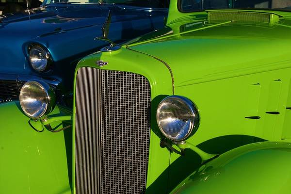 Classic Lime Green Car Poster
