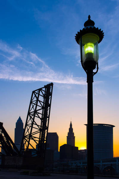 Cleveland Morning By The Lamp Post Poster