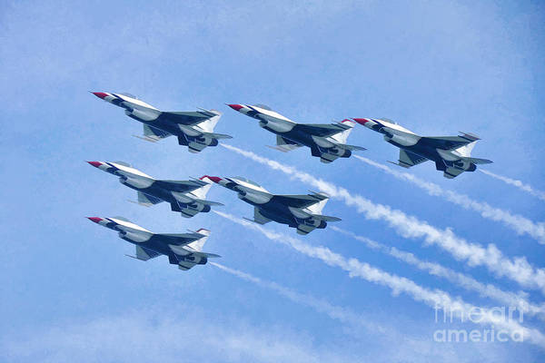 Cleveland National Air Show - Air Force Thunderbirds - 1 Poster