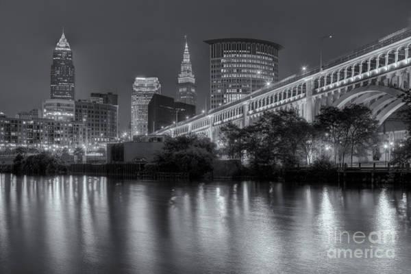 Cleveland Night Skyline IIi Poster